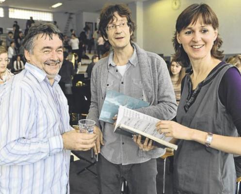 ...de Jean-Claude Kolly, Louis-Marc Crausaz et Jocelyne Crausaz (de gauche à droite) / Photo Alain Wicht