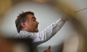 Répétition de la messe pour la Paix, The Armed Man, de Karl Jenkins Voici Jean-Claude Kolly Photo Lib/Alain Wicht Fribourg, le 3.11.2012