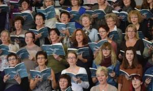 Répétition de la messe pour la Paix, The Armed Man, de Karl Jenkins  Photo Lib/Alain Wicht Fribourg, le 3.11.2012